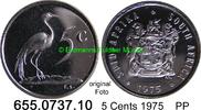 5 Cents 1975 Südafrika Republik *123 KM84 PP  4,25 EUR  zzgl. 4,75 EUR Versand