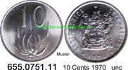 10 Cents 1970 Südafrika Republik *124 KM85 unc  4,25 EUR  zzgl. 4,75 EUR Versand