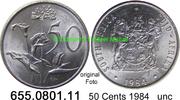 50 Cents 1984 Südafrika Republik *126 KM87 unc  1,50 EUR  zzgl. 4,75 EUR Versand
