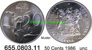 50 Cents 1986 Südafrika Republik *126 KM87 unc  1,50 EUR  zzgl. 4,75 EUR Versand