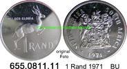 1 Rand 1971 Südafrika Republik *128 KM88 Spitzenqualität BU  13,00 EUR  zzgl. 4,75 EUR Versand