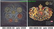 5,88 Pounds 2008 Großbritannien Great Britain Kursmünzensatz . 360.0808... 22,75 EUR  zzgl. 4,75 EUR Versand