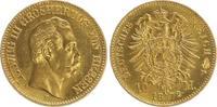 Hessen 10 Mark Gold Hessen 10 Mark Gold 1872 E, seltenes Jahr, fast prägefrisch