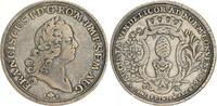 1 Taler 1765 1765 Augsburg Augsburg 1 Taler 1765 ss ss  250,00 EUR  zzgl. 4,75 EUR Versand