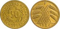 50 Pfennig mit Zertifikat 1924F Deutschlan...