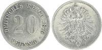 20 Pfennig 1875 E Kaiserreich 20 Pfennig 1875 E ss-vz sehr schön-vorzüg... 60,00 EUR  plus 7,50 EUR verzending