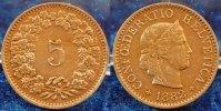 5 Rappen 1882 1882 Schweiz Schweiz 5 Rappen 1882, prfr. schöne Patina, ... 75,00 EUR  zzgl. 4,75 EUR Versand