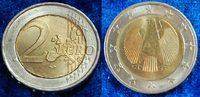 """Deutschland / 2 Euro Probeprägung 2 Euro Probe """"drehende Sterne"""" Deutschland 2 Euro Probe ohne Jahreszahl """"drehende Sterne"""" Prägestätte"""