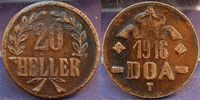 20 Heller Dünnabschlag, Kupferlegierung 1916 Kolonien / Deutsch-Ostafri... 125,00 EUR  +  7,50 EUR shipping