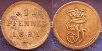 Altdeutschland / Mecklenburg-Schwerin 1 Pfennig 1831 vz+ Mecklenburg-Sch... 25,00 EUR  zzgl. 4,50 EUR Versand