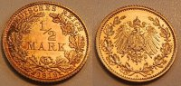 Kaiserreich 1/2 Mark 1919A Polierte Platte (Proof) 1/2 Mark Silber J.16 ... 175,00 EUR