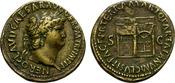 Sesterz. AD 62 -68. Lugdunum. Nero. Temple...