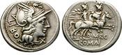 DENARIUS. 148 BC. ROME. REPUBLIC. MARCIA 1...