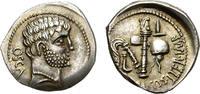 Denarius. 39 BC  Roman Imperatorial Period. C Domitius Calvinus. Rare !   2500,00 EUR  zzgl. 39,00 EUR Versand