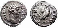 denar  DIVUS LUCIUS VERUS. 161-169 AD. SILVER DENARIUS. CONSECRATIO. SCARCE.