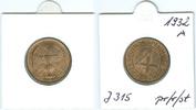 Nach Stabilisierung der Mark 1923-1933 (1936) 4 Reichspfennig 1932 A prä... 25,00 EUR  plus 5,50 EUR verzending