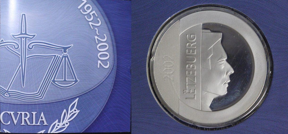 25 Euro 2002 Luxemburg 50 Jahre Gerichtshof PL/Blister