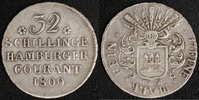 32 Schilling 1809 Hamburg, Stadt  ss+  75,00 EUR  zzgl. 5,00 EUR Versand
