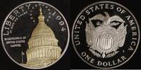 1 Dollar 1994 USA Capitol PP, teilvergoldet  30,00 EUR  zzgl. 5,00 EUR Versand