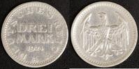 3 Mark 1924 A Weimarer Republik Kursmünze ss, Randfehler  15,00 EUR  zzgl. 5,00 EUR Versand