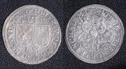 6 Kreuzer 1684 Brandenburg-Ansbach Johann Friedrich ss/rauer Schr.  185,00 EUR  zzgl. 5,00 EUR Versand