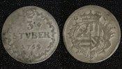 3 Stüber 1753 Wied-Neuwied - Graftschaft Johann Friedrich Alexander - s... 60,00 EUR  zzgl. 5,00 EUR Versand