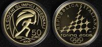 50 Euro 2006 Italien Olympia Turin ´06 - Fackelläufer PP*/l.Rsp.  710,00 EUR kostenloser Versand