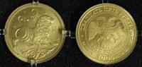 25 Rubel 2005 Russland Löwe - Sternzeichen/ Tierkreiszeichen - Gold matt  325,00 EUR  zzgl. 5,00 EUR Versand