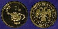 25 Rubel 2002 Russland Skorpion - Sternzeichen/ Tierkreiszeichen - Gold   420,00 EUR kostenloser Versand