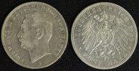 5 Mark 1908 G Baden Friedrich II. gutes ss/kl.Rf.  55,00 EUR