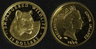 Cook Islands 25 Dollars 1990 PP* Tiger - Gold 61,00 EUR