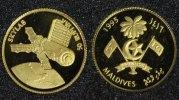 50 Rufiyaa 1995 Malediven Skylab - Gold PP*  65,00 EUR  +  10,00 EUR shipping