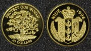 Niue 25 Dollars 1996 PP* Protect our World - Gold 65,00 EUR