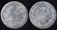1/2 Mark 1912 J Kaiserreich  vz+  65,00 EUR  zzgl. 5,00 EUR Versand