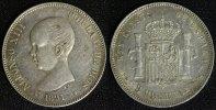 5 Pesetas 1891 Spanien, Königreich Alfonso XIII. - Madrid vz/min.Kr.  95,00 EUR  zzgl. 5,00 EUR Versand
