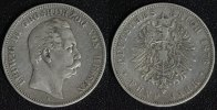 5 Mark 1876 H Hessen Ludwig III. f.ss  90,00 EUR  zzgl. 5,00 EUR Versand