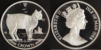 1 Crown 1988 Isle of Man Manx Cat - Elisabeth II. (Silber) P.P.  75,00 EUR  zzgl. 5,00 EUR Versand