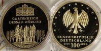 100 Euro 2013 G BRD UNESCO Welterbe Dessau st/OVP/Zert.  640,00 EUR kostenloser Versand