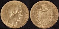 50 Franc 1858 BB Frankreich Napoleon III.(1852-70) ss-vz, kl. Rf.  790,00 EUR kostenloser Versand
