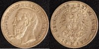 10 Mark 1881 Baden Friedrich I. 1856-1907 ss  300,00 EUR