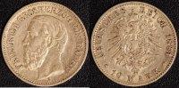 10 Mark 1881 Baden Friedrich I. 1856-1907 ss  300,00 EUR  zzgl. 5,00 EUR Versand