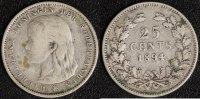 25 Cents 1894 Niederlande  f.ss  45,00 EUR  zzgl. 5,00 EUR Versand