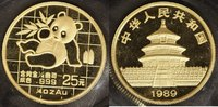 25 Yuan, 1/4 Unze 1989 China China Panda 1989  st  500,00 EUR kostenloser Versand