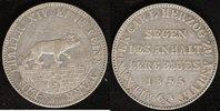 A-Taler 1855 Anhalt-Bernburg Alexander Carl vz  150,00 EUR  zzgl. 5,00 EUR Versand