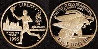 5 Dollar 1995 USA Olympia Atlanta - Fackelläufer PP*/OVP  300,00 EUR