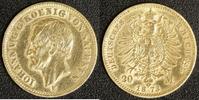 20 Mark 1873 Sachsen Johann ss/geputzt  330,00 EUR  zzgl. 5,00 EUR Versand