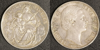 Madonnen-Taler 1866 Bayern Ludwig II. Broschierspur  25,00 EUR  zzgl. 5,00 EUR Versand