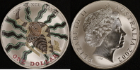 1 Dollar 2002 Australien Känguru vz-st, coloriert  80,00 EUR  zzgl. 5,00 EUR Versand