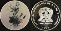 1000 Dobras 1998 Sao Tomé e Principe Kolibri Hologramm P.P.  45,00 EUR  zzgl. 5,00 EUR Versand