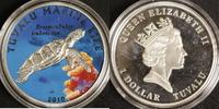 1 Dollar 2010 Tuvalu Schildkröte P.P., mit Zertifikat  50,00 EUR  zzgl. 5,00 EUR Versand